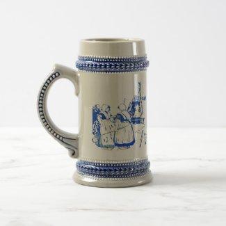 Niederländische Frauen an der Windmühle, mug