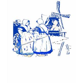 Dutch Women At Windmill shirt
