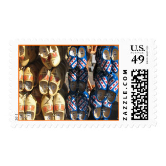 Dutch Wooden Shoes Clogs from Holland Post Stamps