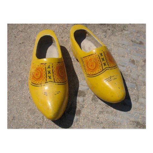 Dutch Wooden Shoes In Holland Clogs Postcard | Zazzle