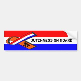 Dutchness On Board Bumper Sticker