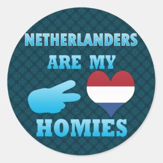 Dutchs es mi Homies Pegatina Redonda