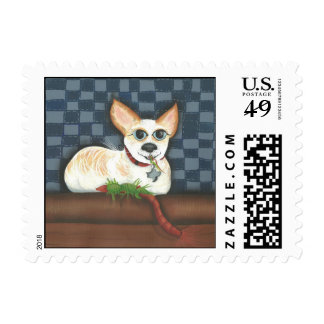 dute rat terrier on a stamp