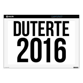 "Duterte 2016 decals for 17"" laptops"