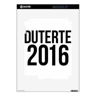 Duterte 2016 decals for the iPad 2