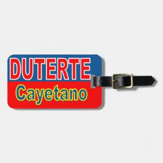 Duterte Cayetano Luggage Tags
