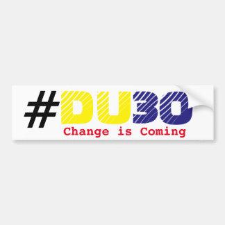 Duterte DU30 bumper sticker