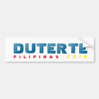 Duterte DU30 bumper sticker