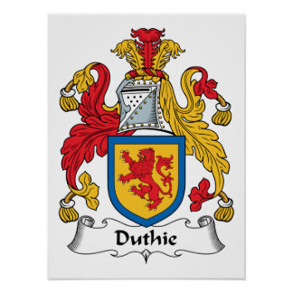 Duthie Family Crest Posters