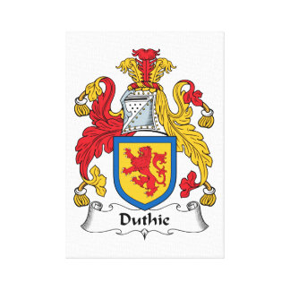 Duthie Family Crest Stretched Canvas Print