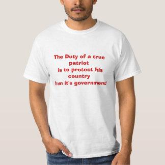 Duties Of a true Patriot T-shirts