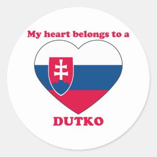 Dutko Classic Round Sticker