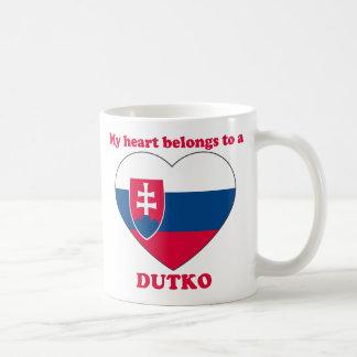 Dutko Classic White Coffee Mug
