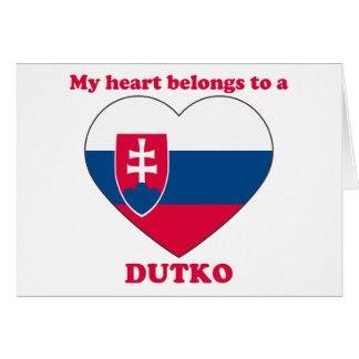 Dutko Greeting Card