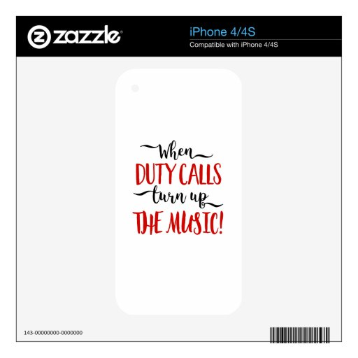 duty decal for iPhone 4