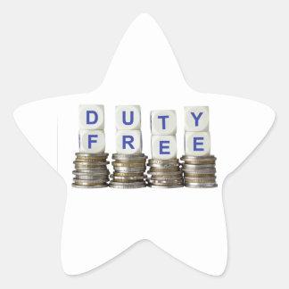Duty Free Star Sticker