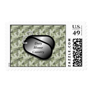 Duty Honor Country Military Camo Postage