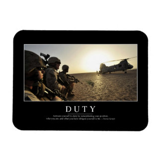 Duty: Inspirational Quote 1 Magnet