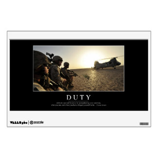 Duty: Inspirational Quote 1 Wall Decal
