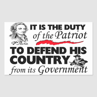 Duty Of the Patriot! Rectangular Sticker