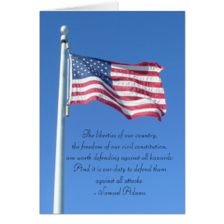 Duty to Defend Liberties- Samuel Adams Card