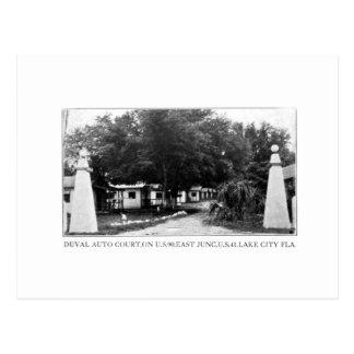 Duval Auto Court Lake City Florida Vintage Postcar Postcard
