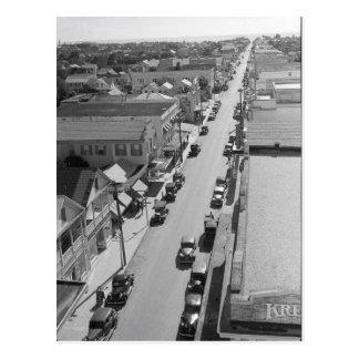 Duval Street, Key West Florida 1938 Postcard