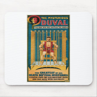 Duval The Mysterious ~ Death Defying Illusionist Mouse Pads