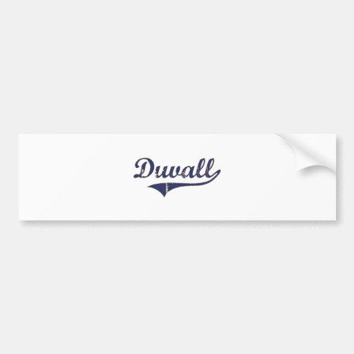 Duvall Washington Classic Design Bumper Stickers