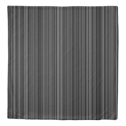Duvet cover retro black grey white stripe