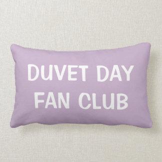 Duvet Day Fan Club Lumbar Cushion Pale Purple