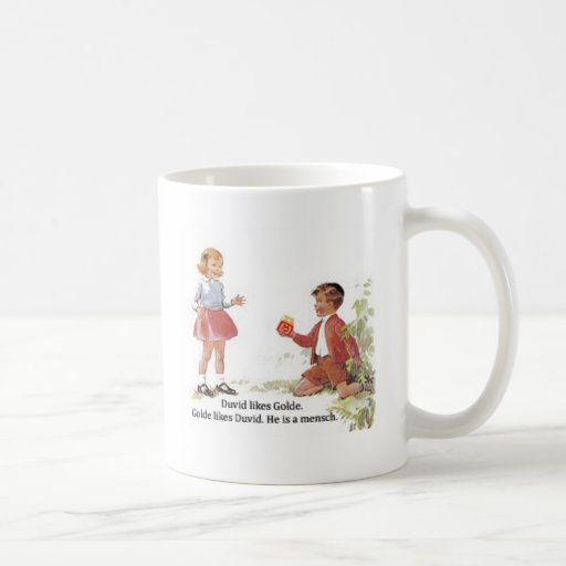 Duvid likes Golde. Classic White Coffee Mug