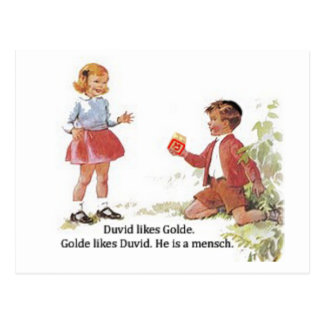 Duvid tiene gusto de Golde Tarjeta Postal