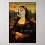 Dux artístico de Mona Lisa Póster
