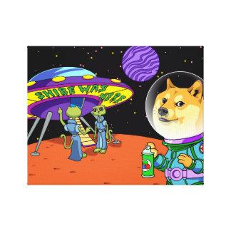 Dux Astro de Shibe y el dibujo animado de los Impresion En Lona