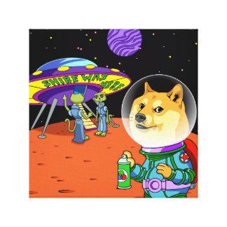 Dux Astro de Shibe y el dibujo animado de los Impresiones En Lona