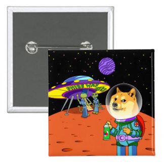 Dux Astro de Shibe y el dibujo animado de los Pin Cuadrado