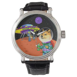Dux Astro de Shibe y el dibujo animado de los Reloj