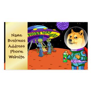 Dux Astro de Shibe y el dibujo animado de los Tarjetas De Visita