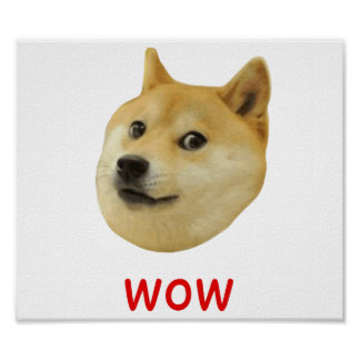 Dux mismo wow mucho perro tal Shiba Shibe Inu Poster
