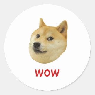 Dux mismo wow mucho perro tal Shiba Shibe Inu Etiquetas Redondas