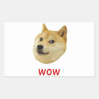 Dux mismo wow mucho perro tal Shiba Shibe Inu Pegatina Rectangular