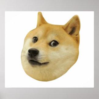 Dux mismo wow mucho perro tal Shiba Shibe Inu Póster