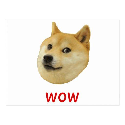 Dux mismo wow mucho perro tal Shiba Shibe Inu Postal