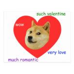 Dux mucho del día de San Valentín amor mismo tales Postal