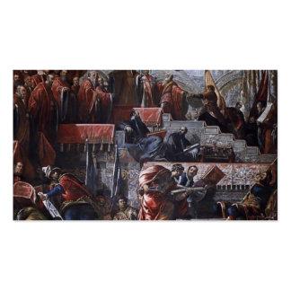 Dux Nicolò de Tintoretto- que recibe una corona de Tarjetas De Visita
