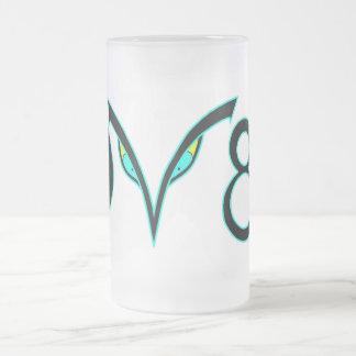 DV8 16 OZ FROSTED GLASS BEER MUG