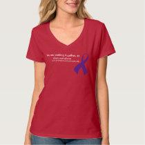 dv awareness advocacy V-neck tee