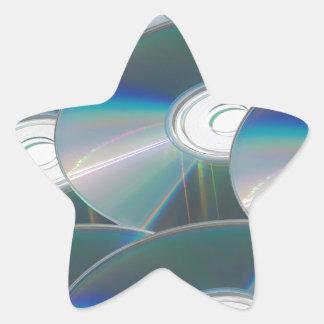 DVD discs Star Sticker