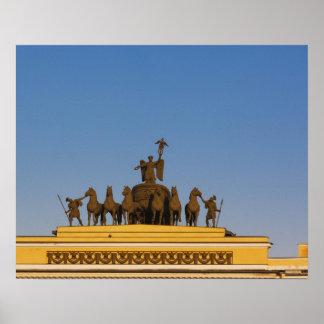 Dvortsovaya Square, Triumphal Arch, sunset 2 Poster